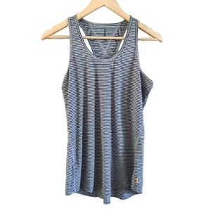 Joe Fresh Racerback Striped Athletic Tank Top M